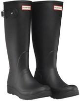 Hunter Womens Tall Wedge-Sole Wellington Boots Black