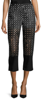 3.1 Phillip Lim Organza Caning Embroidered Crop Pant