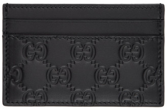 Gucci Black Signature Card Holder