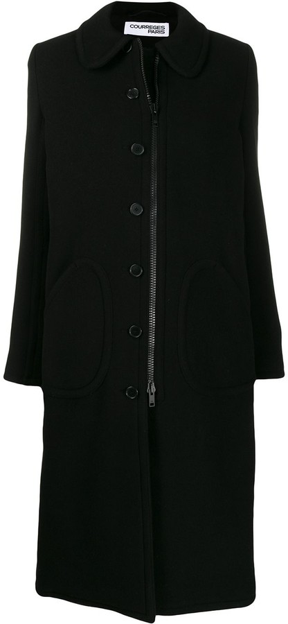 Courreges single breasted coat