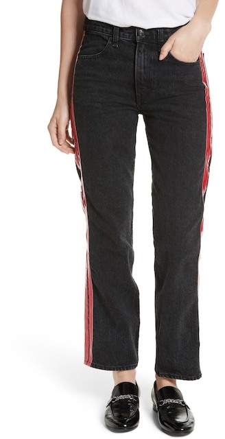 Rag & Bone High Waist Straight Leg Jeans