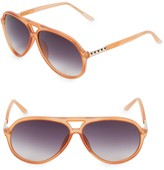 Linda Farrow Luxe Matthew Williamson x Linda Farrow 63MM Aviator Sunglasses