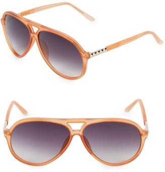 Linda Farrow Luxe Matthew Williamson x Linda Farrow 63MM Aviator Sunglasses