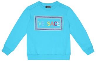 Versace Kids Embroidered cotton sweatshirt