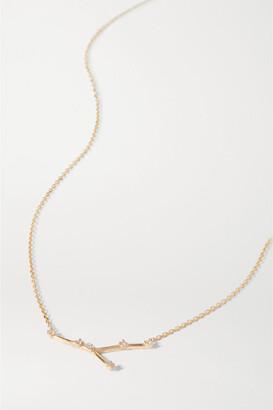 Sebastian Celestial Cancer 10-karat Gold Diamond Necklace - one size