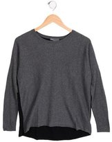 Vince Girls' Two-Tone Long Sleeve Top