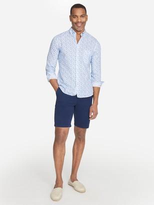 J.Mclaughlin Westend Modern Fit Linen Shirt in Fish
