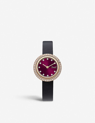 Piaget G0A44086 Possession 18ct rose-gold, diamond and leather watch