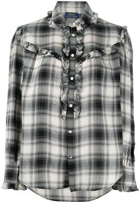 Polo Ralph Lauren Ruffle-Trimmed Plaid Shirt