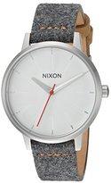 Nixon Women's 'Kensington Leather' Quartz Metal and Cloth Automatic Watch, Color:Grey (Model: A1082476-00)