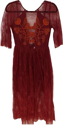 Sandro Red Lace Dresses