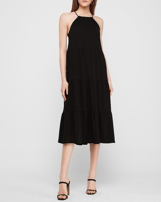 Express Textured Knit Tiered Midi Dress