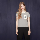Maje Striped T-shirt with crest