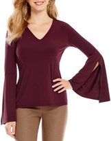 Alex Marie Ronny Bell Sleeve Knit Top
