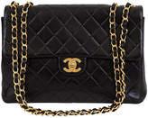 One Kings Lane Vintage Chanel Black Jumbo Flap Bag