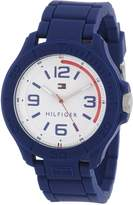 Tommy Hilfiger Men's 1790941 Cool Sport Silicone Wrapped Case and Blue Silicone Strap Watch
