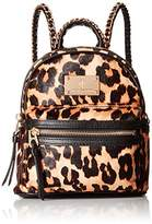 Juicy Couture Black Label Calf Hair Leopard Printed Mini Backbag with Gold Chain Detailing