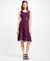 Brooks Brothers Embroidered Floral-Motif Dress
