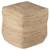 "Surya Beige Daphnis Knotted Cube Pouf (18""X18""X18"")"
