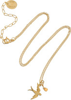 Alex Monroe 22-karat gold-plated sapphire necklace