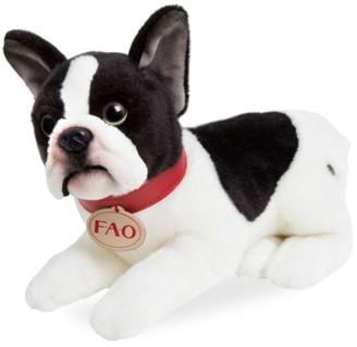 Fao Schwarz Toy Plush Puppy Lying French Bulldog
