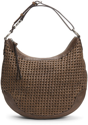 Frye Melissa Woven Scooped Leather Hobo