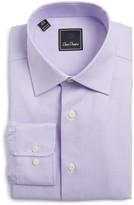 David Donahue Men's Regular Fit Houndstooth Dress Shirt