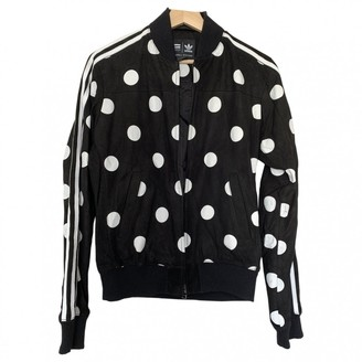 Pharrell Adidas X Williams Black Leather Leather Jacket for Women