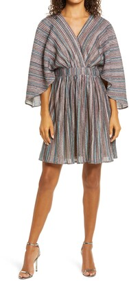 Harlyn Metallic Stripe Cocktail Dress