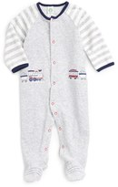 Little Me Infant Boy's Train Velour Footie