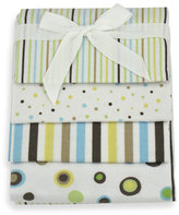 Bed Bath & Beyond Just Born 4-Pack Flannel Receiving Blankets - Sage Dot