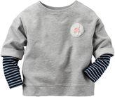 Carter's Long-Sleeve Gray Knit Fashion Top - Girls 4-8