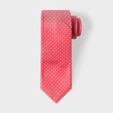 Paul Smith Men's Coral Pin Polka Dot Narrow Silk Tie