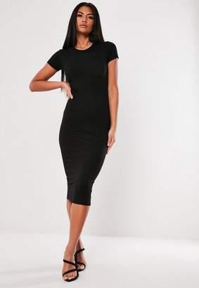 Missguided Black Basic Bodycon Midi Dress