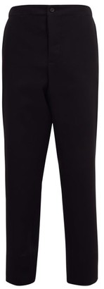 Wardrobe NYC Release 05 Wool-canvas Straight-leg Trousers - Black