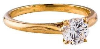 Cartier 18K Diamond Solitaire Engagement Ring