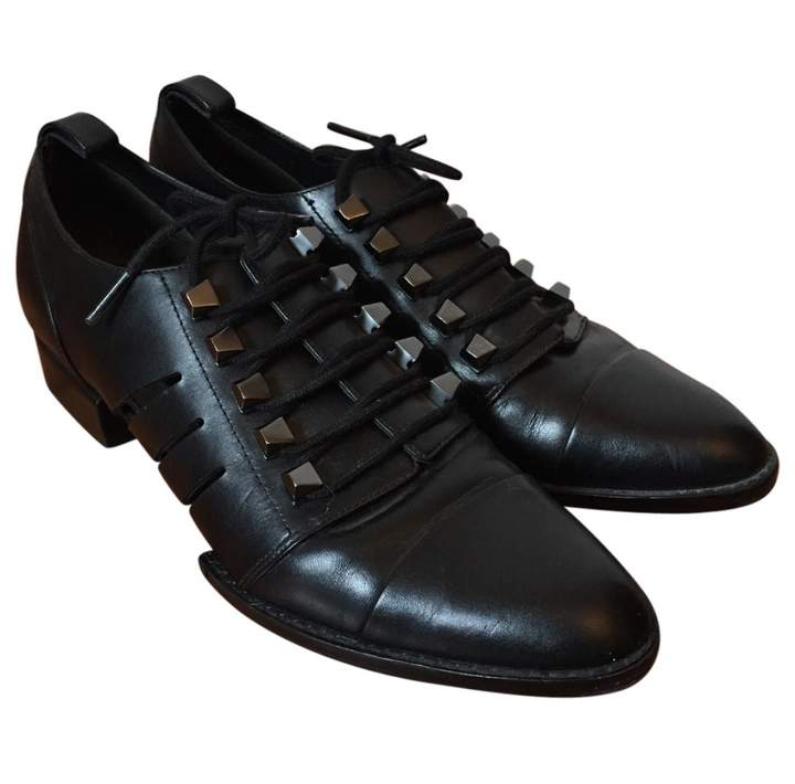 Alexander Wang Black Leather Lace ups