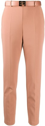 Elisabetta Franchi Belted Slim-Fit Trousers