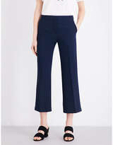 Sandro Cropped crepe trousers
