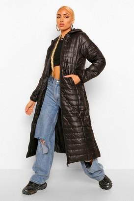 boohoo Maxi Puffer Coat