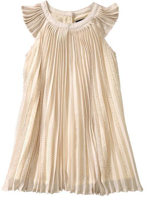 Gap Pleated dot dress