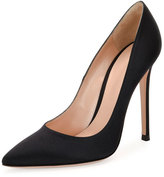 Gianvito Rossi Gianvito Silk 105mm Pump, Black
