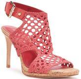 Donald J Pliner Women's SANIA - Woven Nubuck Leather Heeled Sandal