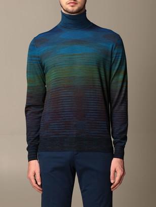 Missoni Turtleneck With Colored Micro Stripes