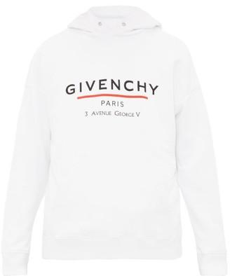 Givenchy Logo-print Cotton Hooded Sweatshirt - White
