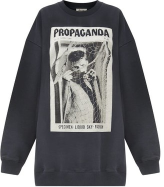 Acne Studios Fina Propaganda Magazine-print Cotton Sweatshirt - Black