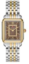 Michele Deco II Diamond, Mother-Of-Pearl & Two-Tone Stainless Steel Watch Case