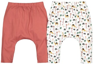 La Redoute Collections Pack of 2 Cotton Harem Pants, Birth-2 Years
