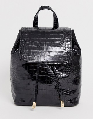 Asos Design DESIGN croc backpack