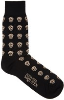 Alexander Mcqueen Black Skull Socks